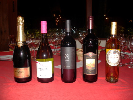 The five wines of Castello Banfi tasted during the event