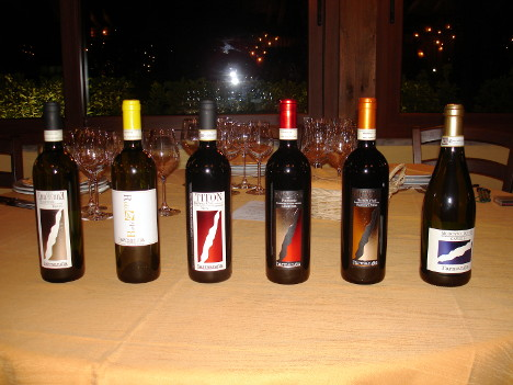 The six wines of L'Armangia winery tasted during the event