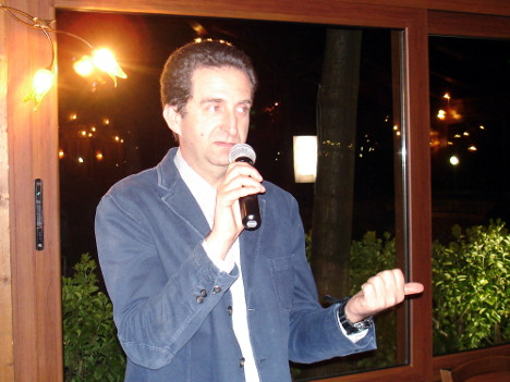 Ignazio Giovine during one of his speeches