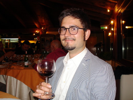 Giovanni Ederle with his Amarone della Valpolicella