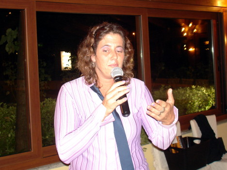 Dr. Jessica Rovai, wine maker of Fattoria Vignavecchia, during one of her speeches
