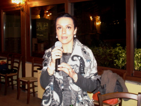 Dr. Paola Cocci Grifoni in one of her speeches