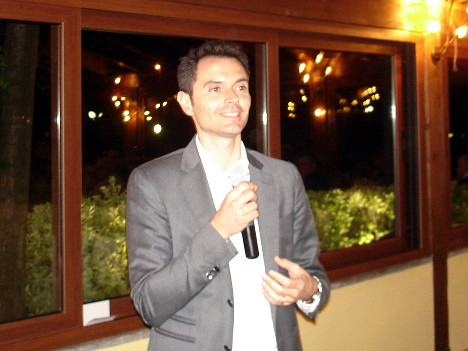 Alessandro Lunelli in one of his speeches