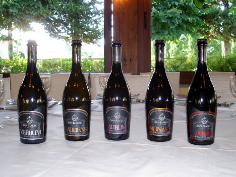 The five beers of San Biagio brewery tasted during the event