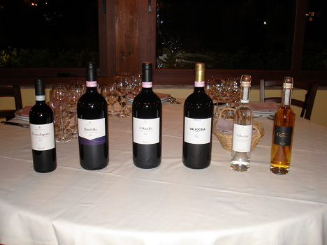 The four wines and two grappas of Bindella tasted in the event