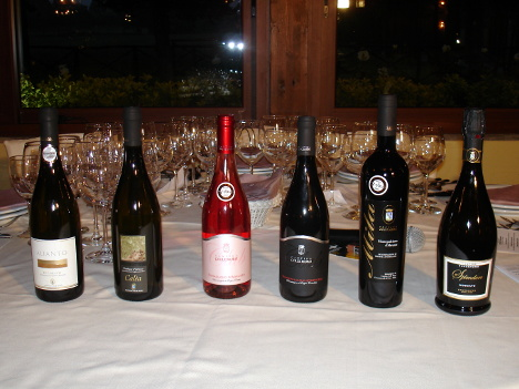 The six wines of Colle Moro winery tasted during the event