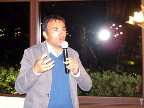 Sergio Ardito in one of his speeches