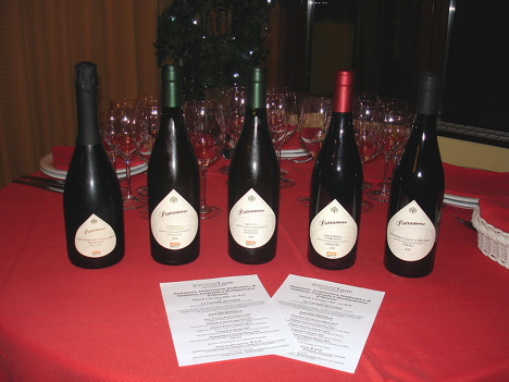 The five wines of Pietramore tasted during the event