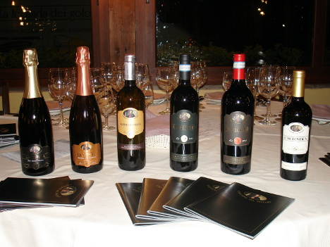 The six wines of Cantie del Notaio tasted in this event