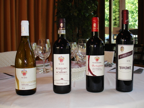 The four wines of Moris Farms tasted during the event