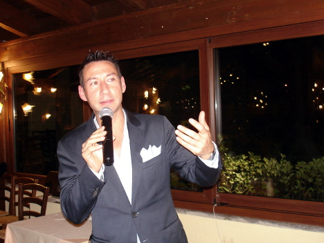 Dr. Manuele Verdelli - sales manager of Capannelle - in one of his speeches