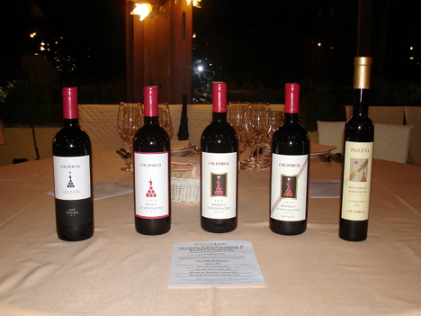 The five wines of Col d'Orcia protagonists of the event