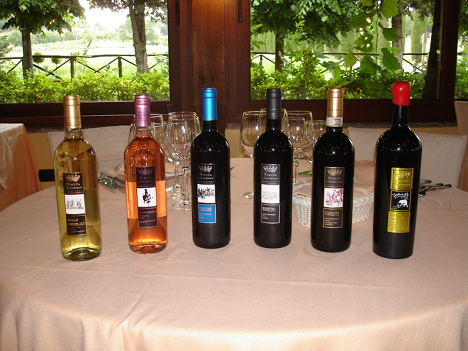 The six wines of Tenuta l'Impostino tasted in the course of the event