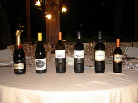 The six wines of Endrizzi tasted in the course of the event