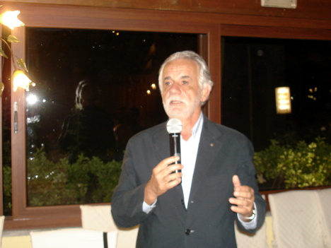 Dr. Paolo Endrici in one of his speeches