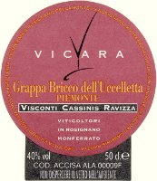 Grappa Bricco dell'Uccelletta, Vicara (Italia)