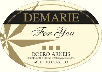 Roero Arneis Metodo Classico For You 2010, Demarie (Italy)