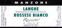 Langhe Rossese Bianco Rosserto 2014, Manzone Giovanni (Italy)