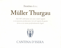 Trentino Müller Thurgau 2016, Cantina d'Isera (Italy)