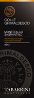 Montefalco Sagrantino Colle Grimaldesco 2013, Tabarrini (Italia)