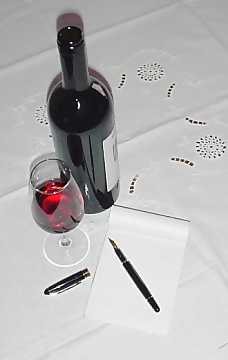 Taking notes during tasting is useful for improving the taster's capacities
