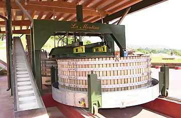 One of the Tenuta La Montina's Marmonier vertical presses