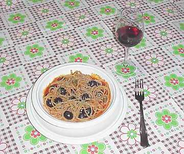 A red wine can be a good match for pasta