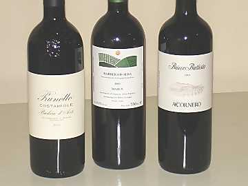 The three Barbera wines of our comparative tasting