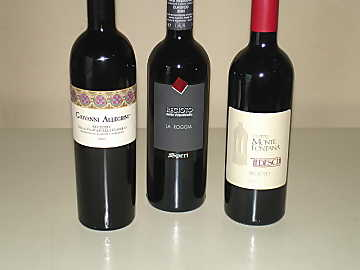 The three Recioto della Valpolicella wines of our comparative tasting