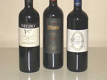 The three Roero Rosso wines of our comparative tasting