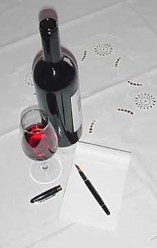 Glass, pen and block note: useful tools for the taster