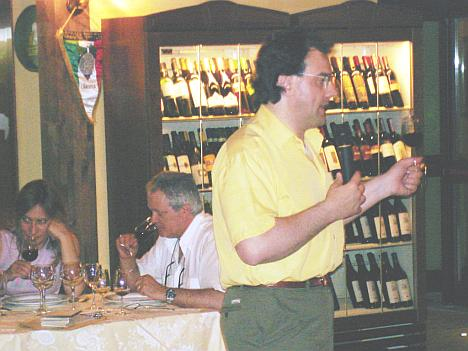 Antonello Biancalana during the preview tasting of Calistri Sangiovese 2003