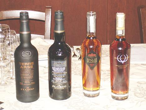 The four Florio's Marsala proposed in enogastronomical matching