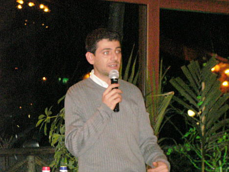 Mr. Giampaolo Tabarrini during one of his speeches