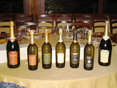 The Merotto's Proseccos of Merotto tasted during the event