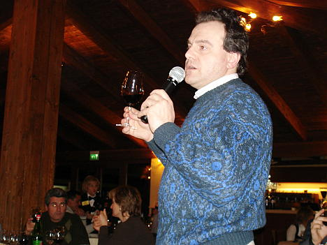 Antonello Biancalana during the preview tasting of Taurasi 2003