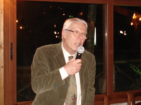 Dr. Giovanni Panizzi during one of his speeches