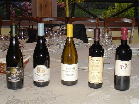 The five wines of Masciarelli tasted during the event