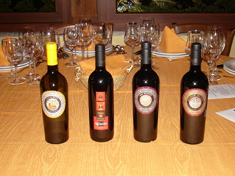 The four wines of Carbone tasted during the event