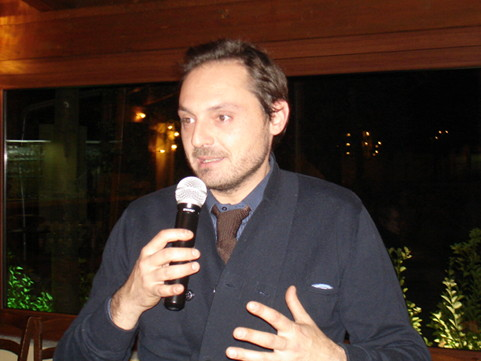 Marco Cecchini during one of his speeches