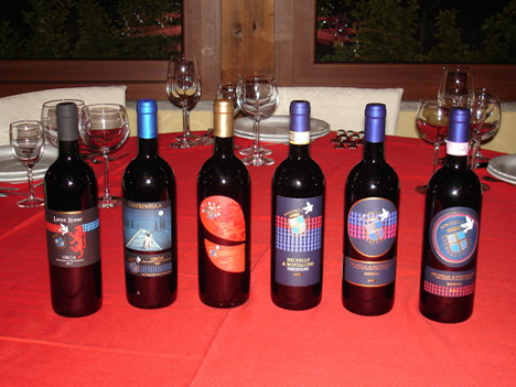 The six wines of Donatella Cinelli Colombini tasted during the event