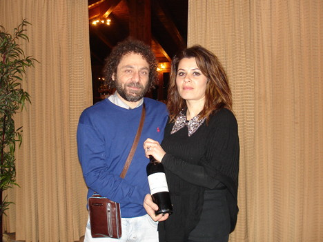 Pierpaolo Menghini and his wife Natascia with Col Cimino 2005