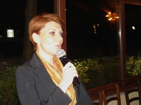 Marilena Barbera during one of her speeches