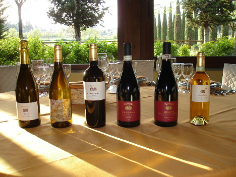 The six wines of Fattori winery tasted during the event