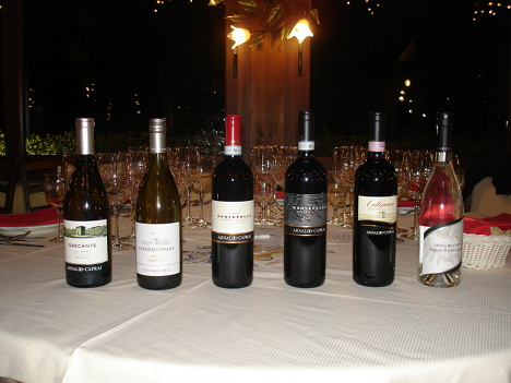 The five wines and grappe of Arnaldo Caprai winery protagonists of the evening