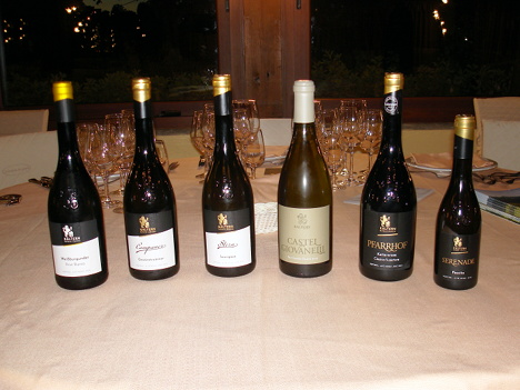 The six wines of Kellerei Kaltern protagonists of the event