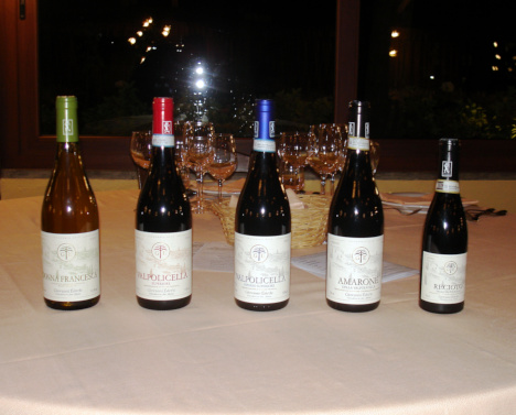 The five wines of Giovanni Ederle tasted in the course of the event