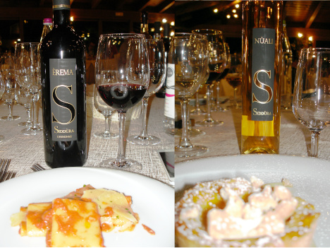 Cannonau di Sardegna Erema 2016 and Moscato di Sardegna Nuali 2015 with their pairings