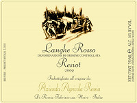 Langhe Rosso Resiot 2009, Ressia (Italy)