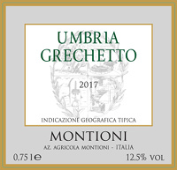 Umbria Grechetto 2017, Montioni (Italia)